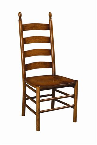 Amish ladder back dining chairs Ladder back chairs