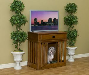 Amish Dog Crate Wood Entertainment Center