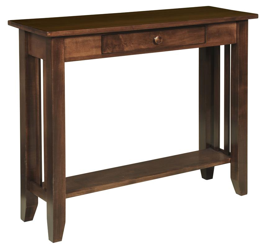 -Amish-Hardwood-Large-Mission-Hall-Table-with-Drawer--10