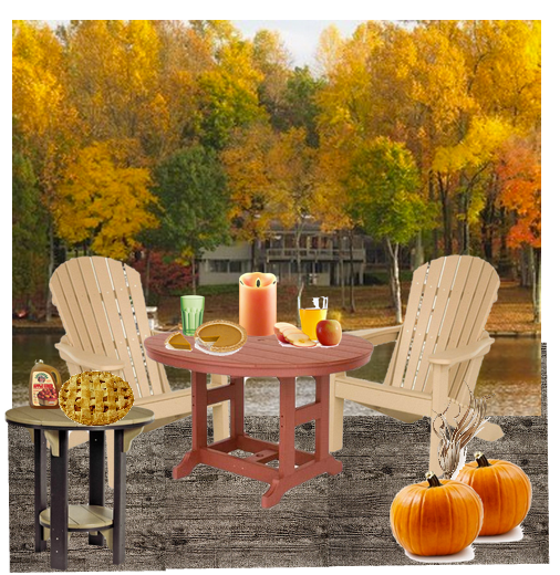 Apple and Pumpkin Pie with Dutchcrafters outdoor Furniture