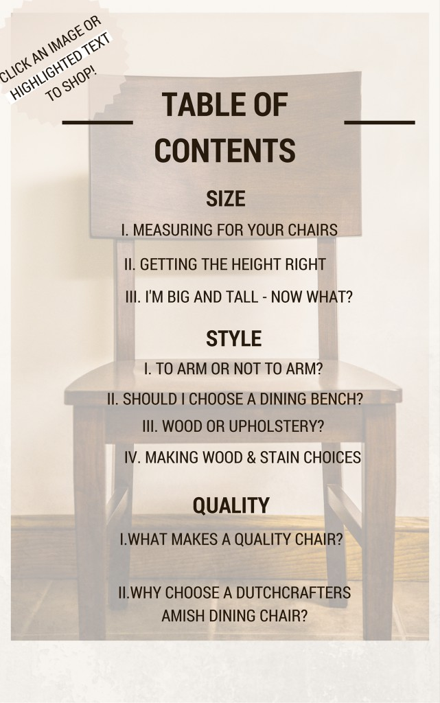 guide to choosing the perfect dining room chair table of contents