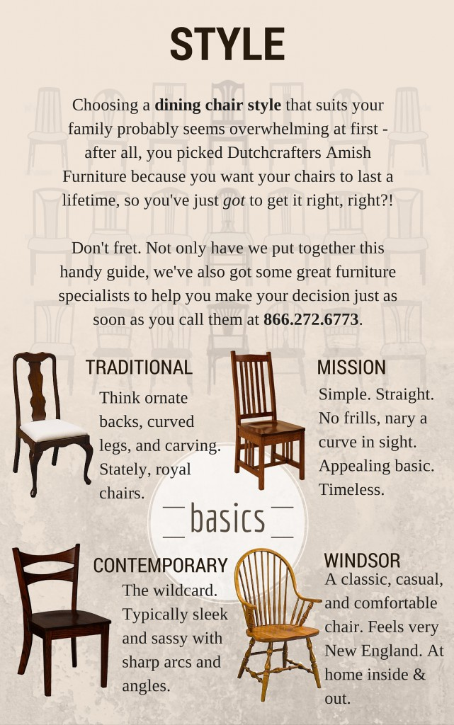 Dutchcrafters Ultimate guide to choosing the perfect dining room chair - style