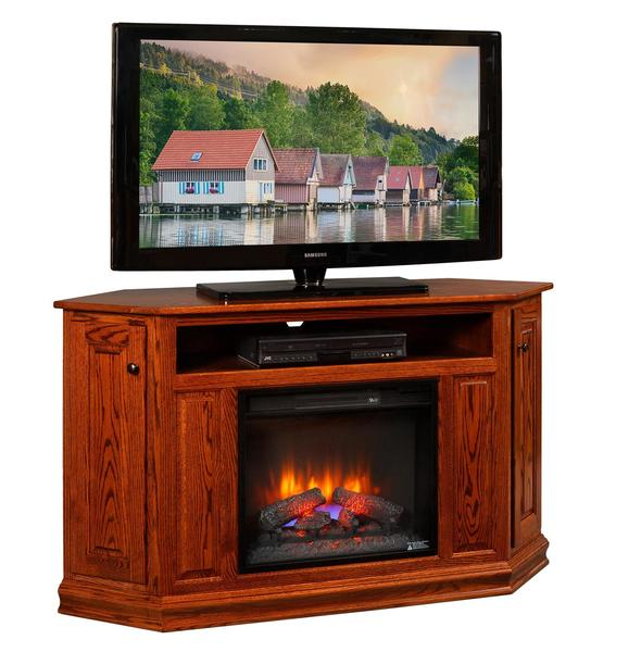 Amish Corner TV Console with Insert