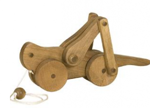 Handmade Wooden Pull Toy for Toddlers - Grasshopper