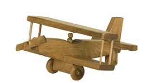 American made Wood Toy Airplane