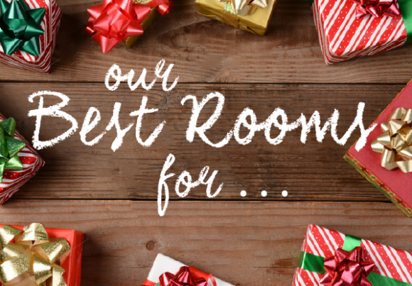 Where to Spend Your Christmas - Our Best Rooms For Holiday Fun from Dutchcrafters - Three rooms for roasting chestnuts, much mistletoe-in and passing round the coffee!