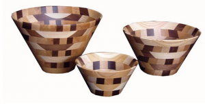 Amish Decorative Wooden Bowls, Mixed