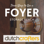 3 Ways to Use A Foyer Storage Bench