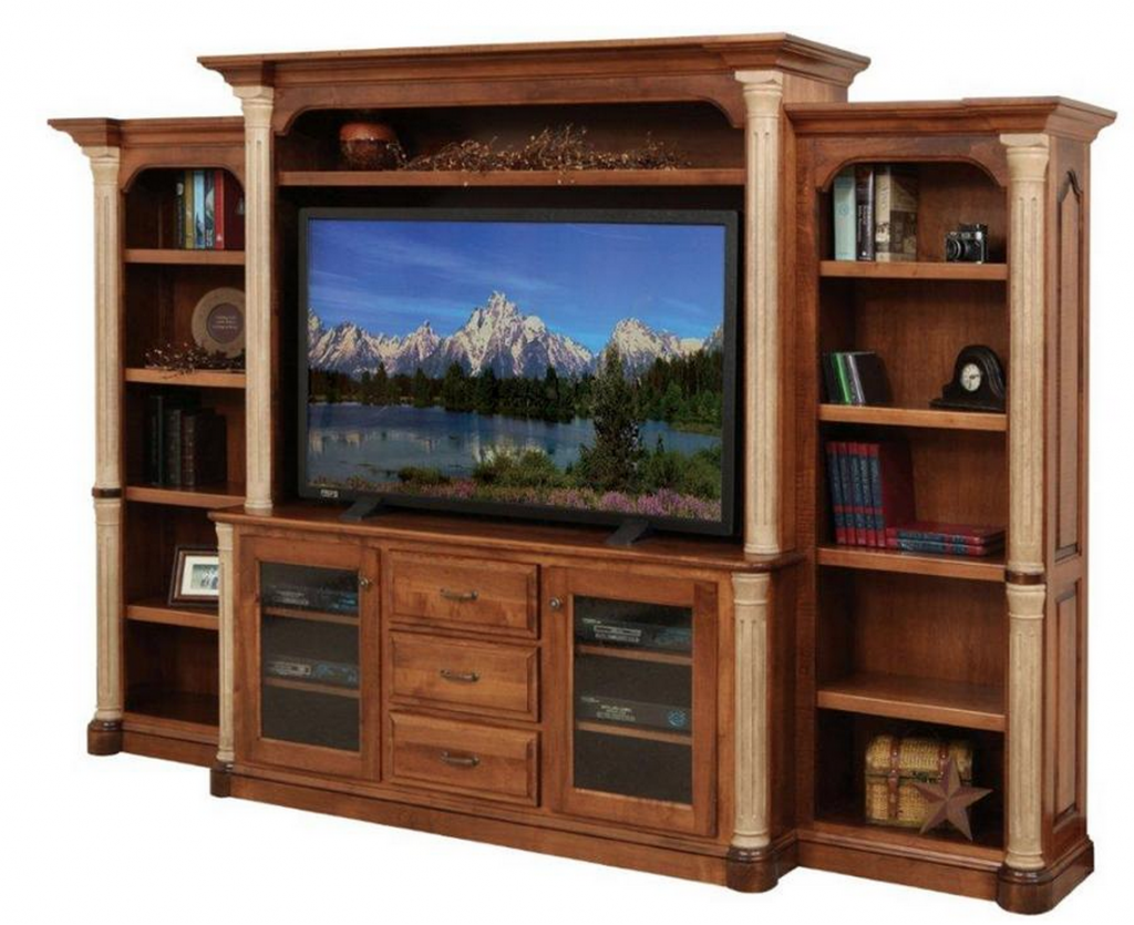 Traditional Style Big TV Entertainment Center