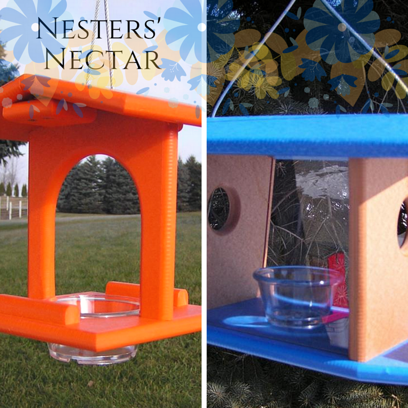 Nesters' Nectar Recipe for our Poly Hanging Bird Feeder & our Oriole Feeder