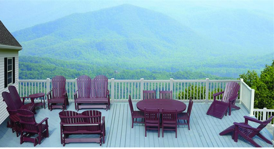 Eco-Friendly Poly wood comfo-back Adirondack