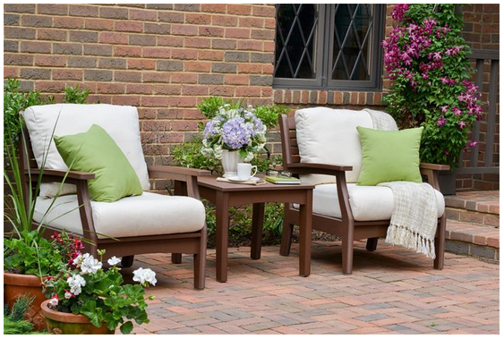 Poly Wood Outdoor Classic Terrace Club Chair Set
