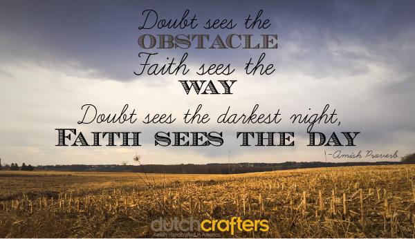 Amish Proverb on Faith