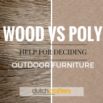 Wood vs. Poly Outdoor Furniture: Help for Deciding