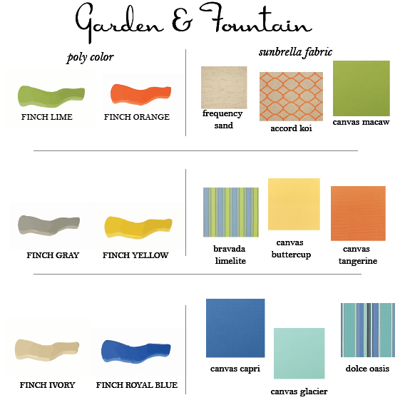 9 Summer Color Combinations for your Outdoor Furniture by DutchCrafters