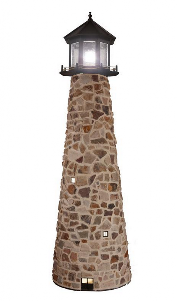 Amish Stone Lighthouse Replica - Stone