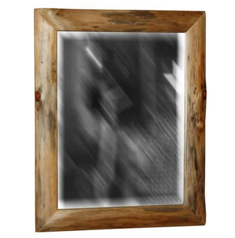 Amish Log Rustic Pine Frame with Mirror