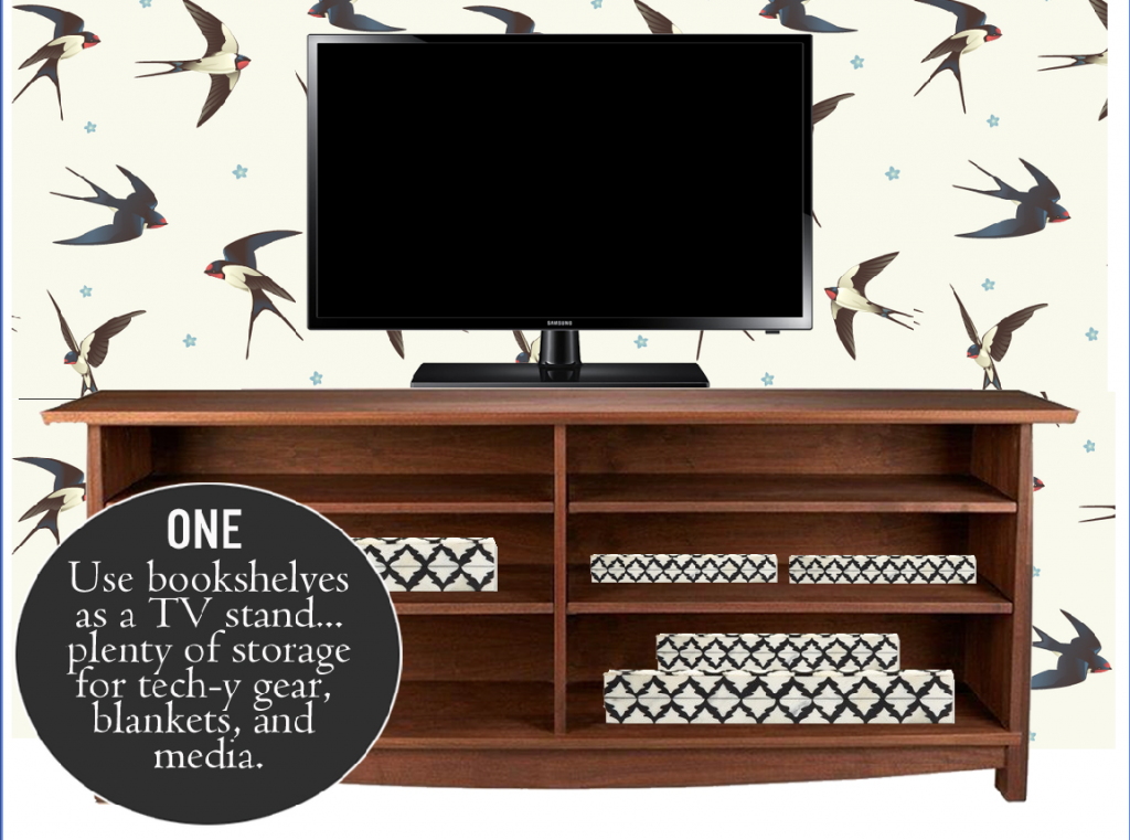 Bookshelves as Media Storage in Your Living Room