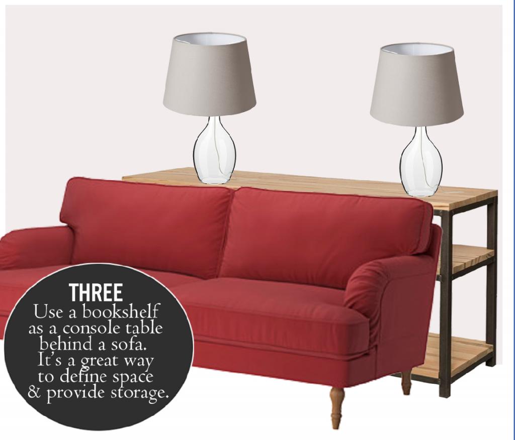 Omni Media Console as a Sofa Table