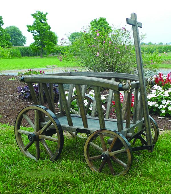 Amish Wooden Goat Wagon - Small Premium