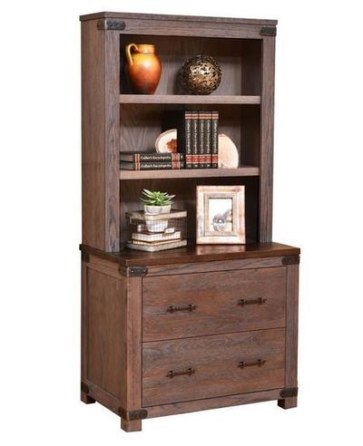 Amish Georgetown Lateral File Cabinet and Optional Bookshelf