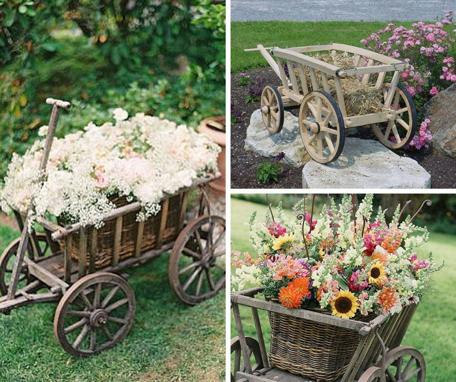 Don't Miss this Wedding Season Trend: The Wedding Wagon!: Flowers
