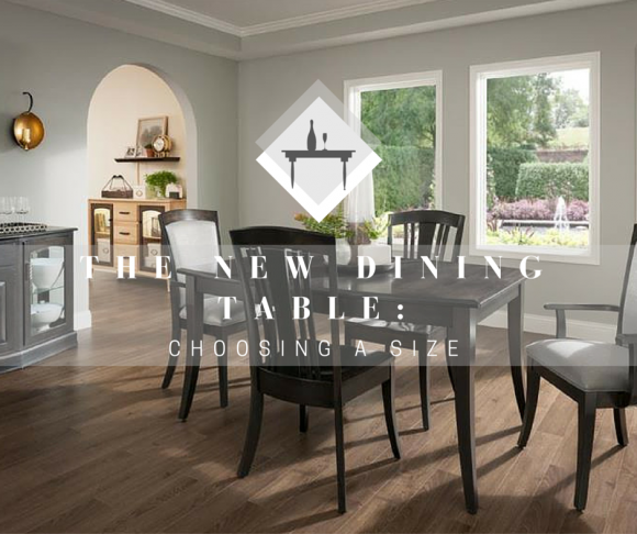 The New Dining Table: What Size Dining Table Do I Need?
