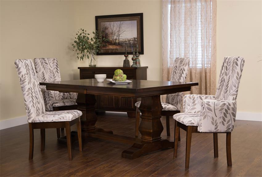 If Masulinity is Your Game: Amish Bradbury Double Pedestal Dining Room Table