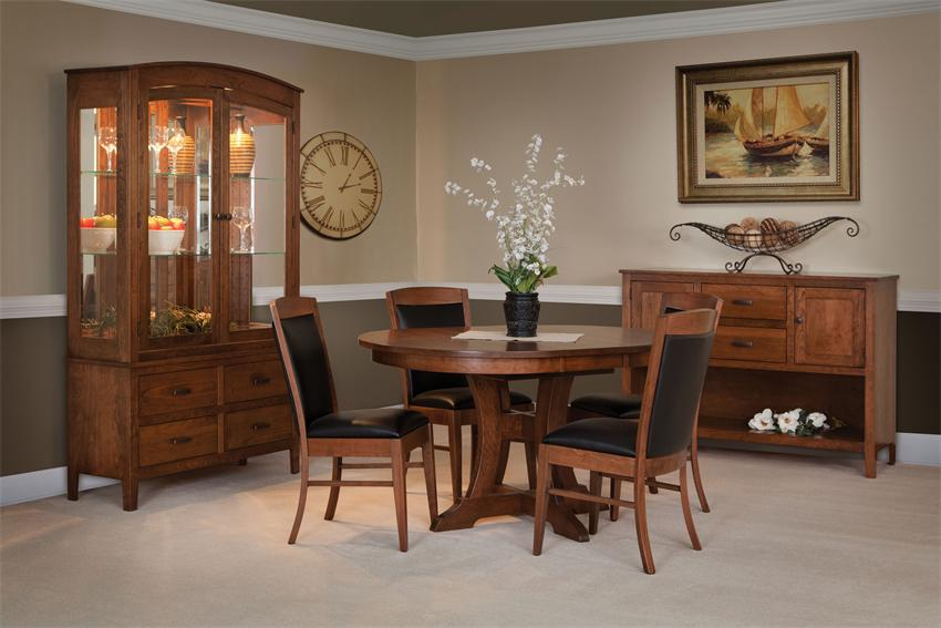 Amish Douglas Round Top Dining Room Table