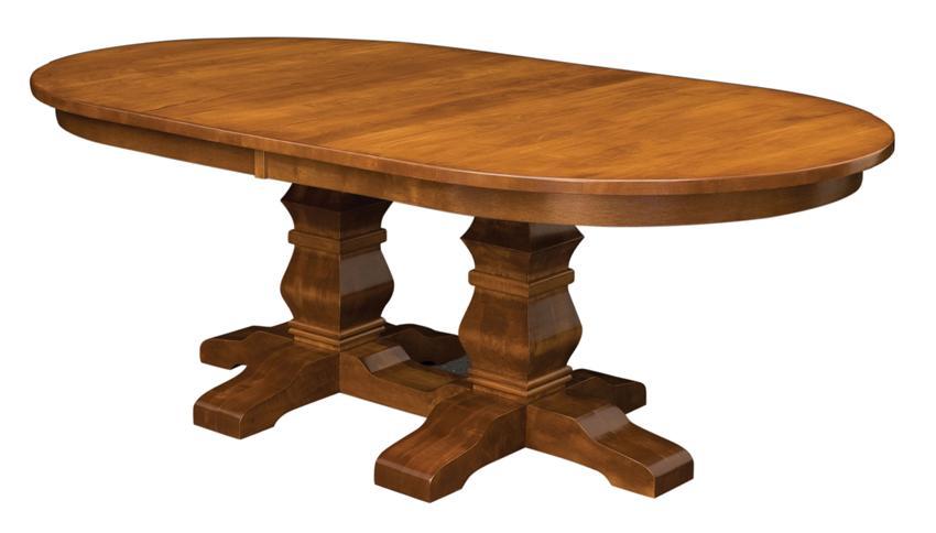 Amish Bradbury Double Pedestal Dining Room Table