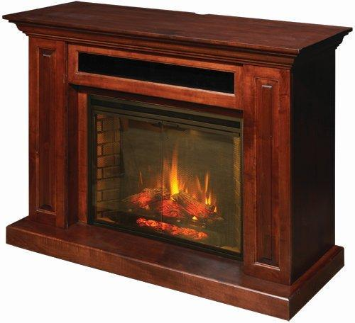 DutchCrafters Living Room Entertainment Rivals: Round One - TV Stands vs. Fireplace Units: Amish Hiland Entertainment Center Fireplace