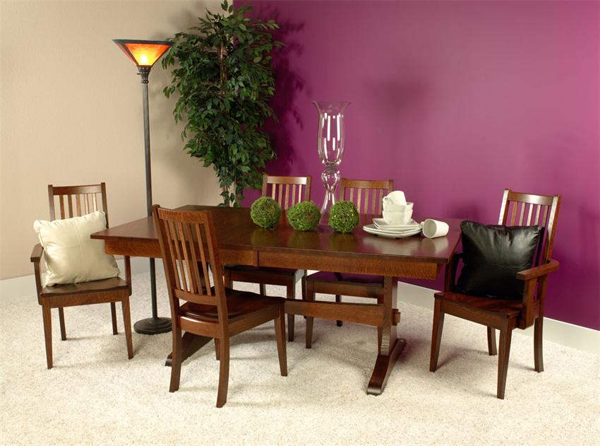 For the Versatile: Wasilla Double Trestle Amish Table