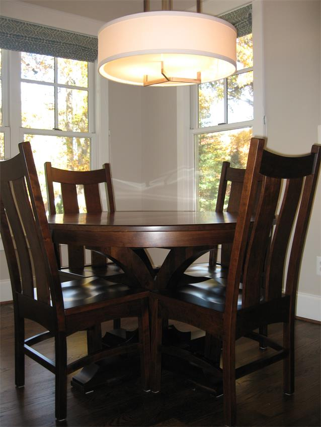 If You've Got Small Shoes to Fill: Amish Francis Single Pedestal Dining Table