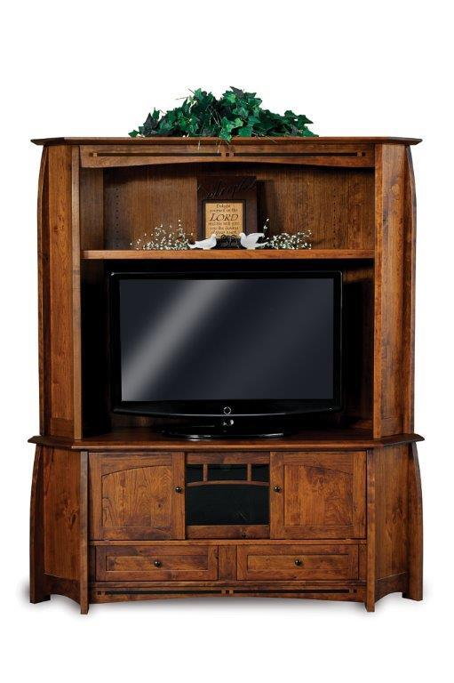 DutchCrafters Living Room Entertainment Rivals: Round One - TV Stands vs. Fireplace Units: Amish Boulder Creek Corner Entertainment Center