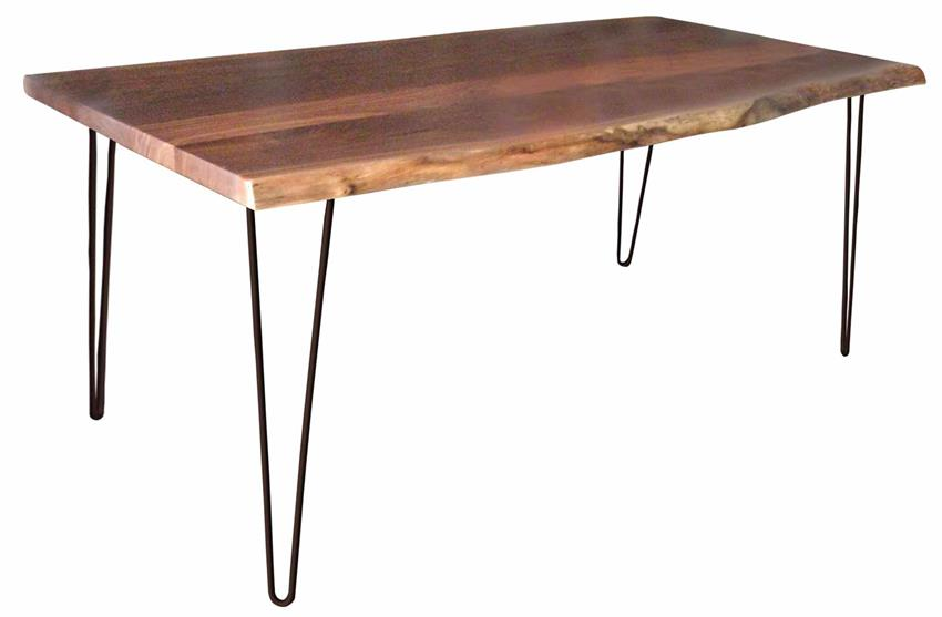 Amish Rustic Dining Table with Hair Pin Legs