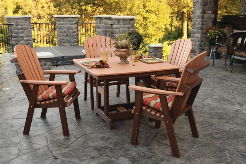 """Amish Poly Wood Garden 44"""" Square Lily Patio Table"""