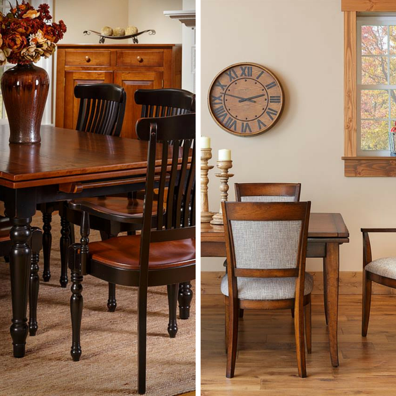 If Customization Is King: Amish Made Farmhouse Stowleaf Draw Extension Dining Room Table