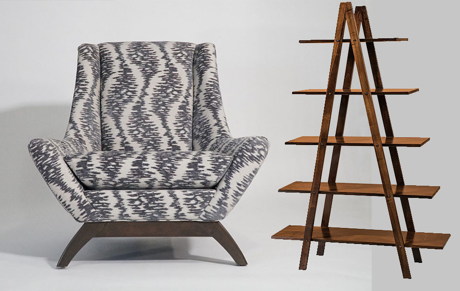 Jasper Chair and Lanita Bookshelf
