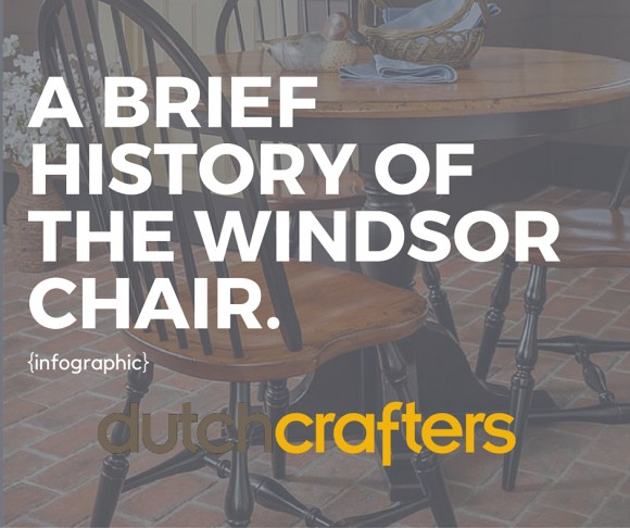 The Windsor chair has a quirky little history, from Britain to Boston, and from bow backs to bamboo-style backsticks. This infographic shows a timeline!