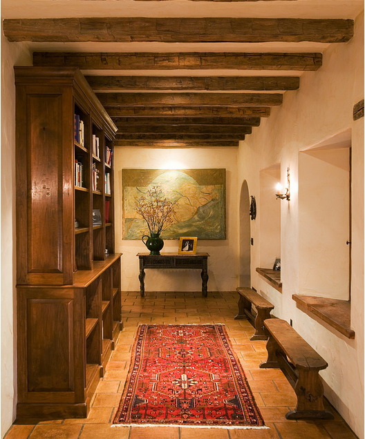 Recreate this Bookcase and Benches Hallway with Dutchcrafters