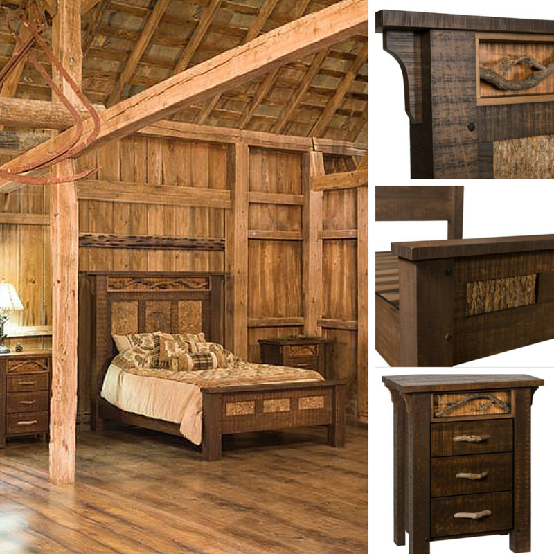 Amish Glen Arbor Rustic Bedroom Set