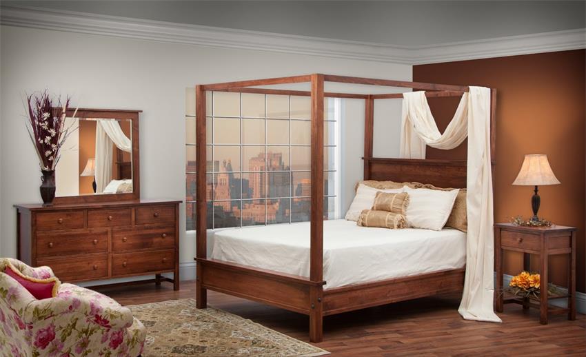 Amish Romantic Canopy Bedroom Set