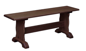 Amish-Furniture-Traditional-Trestle-Bench