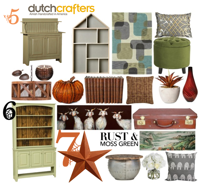 Fall Furniture: Moss and Rust Color Combo