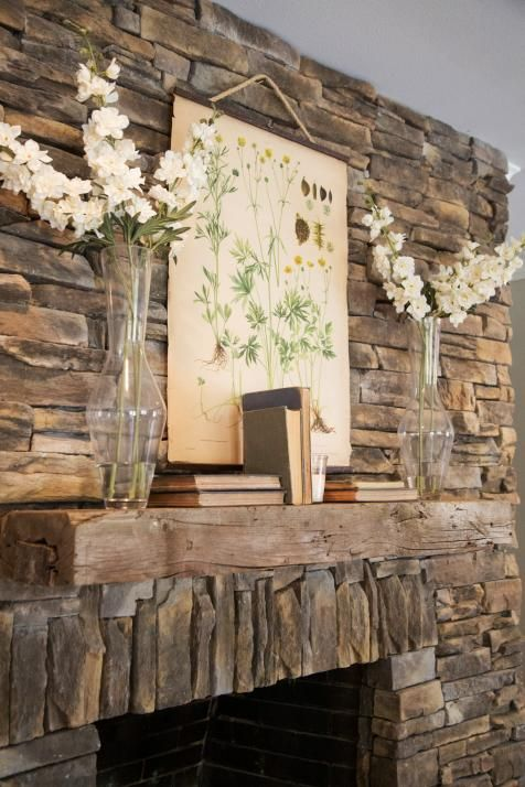 Country Rustic Fireplace Mantel