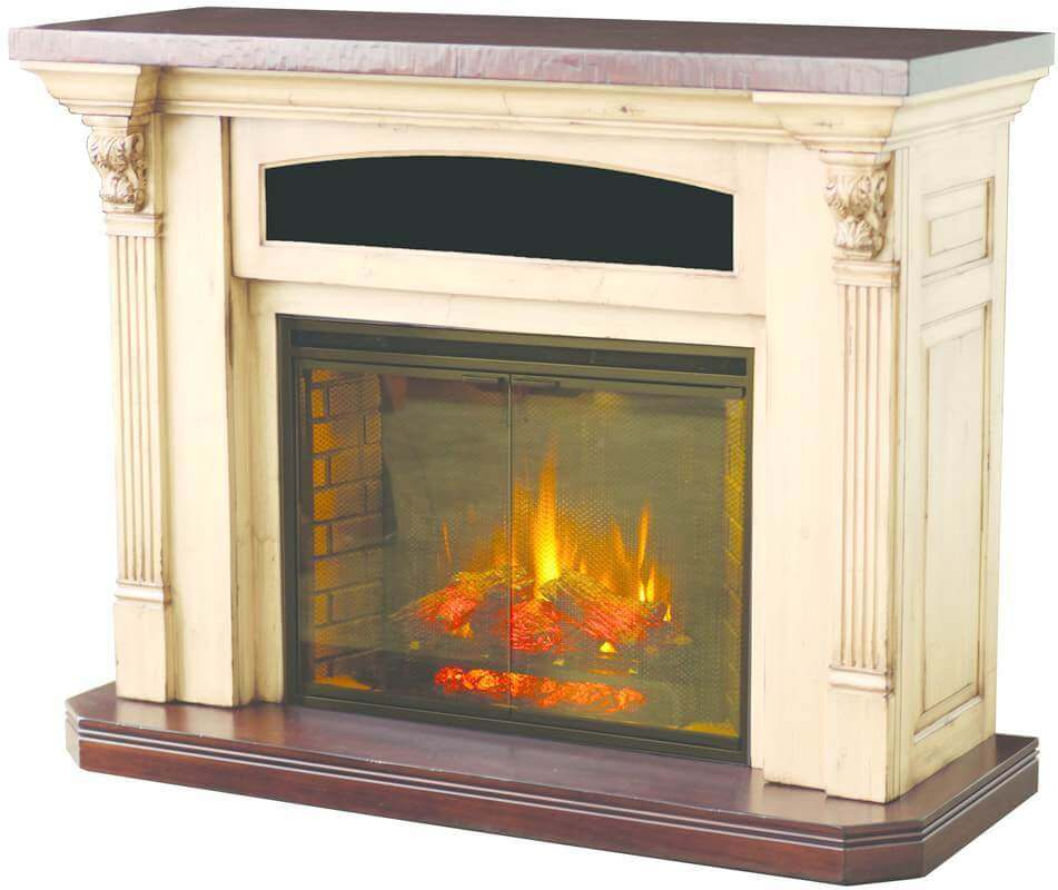 White Serenity Electric Fireplace TV Stand