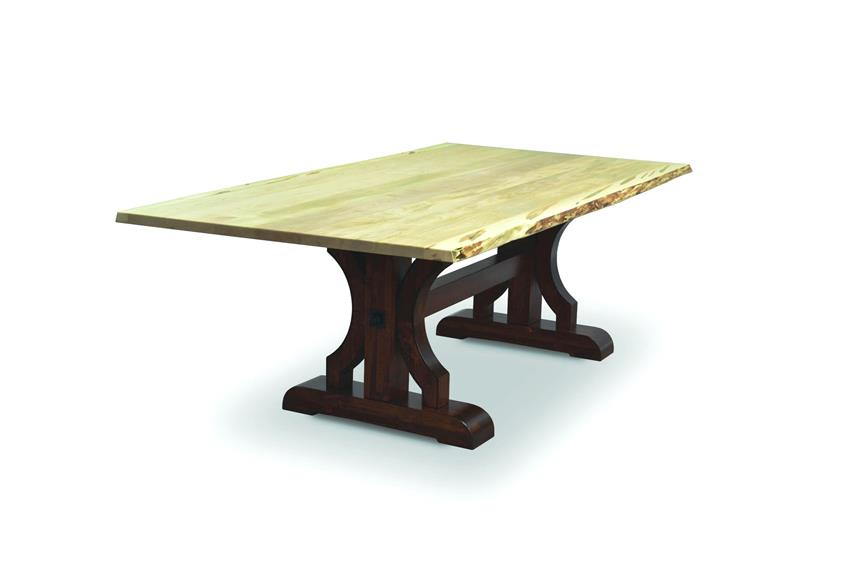 Amish Barstow Table with Live Edge