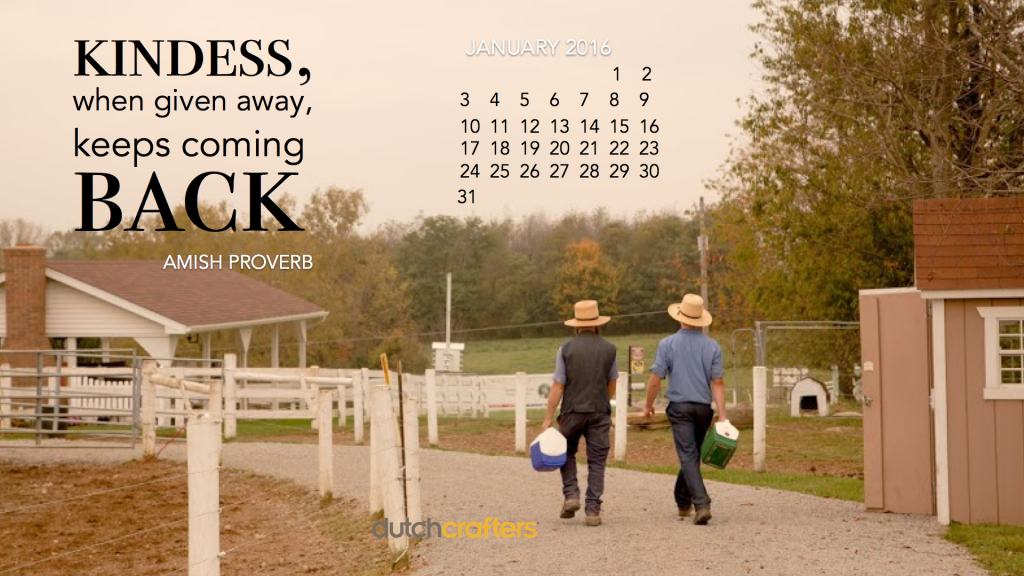 Inspirational Calendar Wallpaper: January 2016