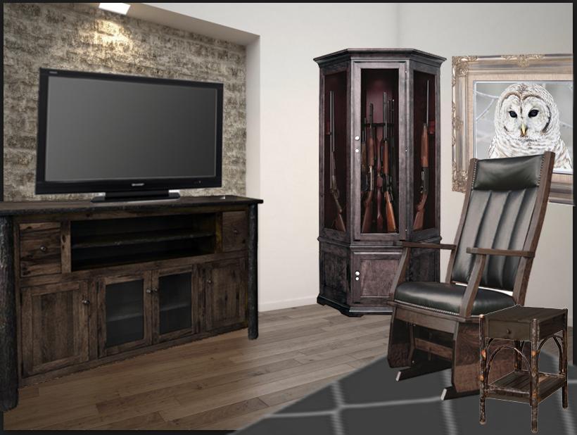 Modern Log Furniture Living Room