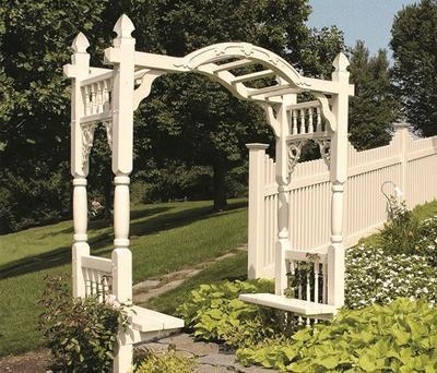 Amish Madison 7 ft. Vinyl Arch Arbor